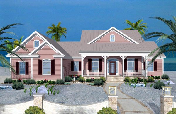 Traditional House Plan 74819 with 3 Beds, 4 Baths, 3 Car Garage Elevation