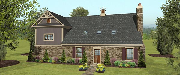 3 Car Garage Apartment Plan 74843 with 2 Beds, 1 Baths, RV Storage Rear Elevation