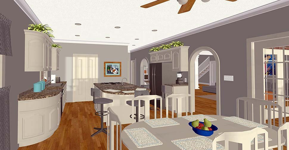 Craftsman, Traditional House Plan 74867 with 4 Beds, 5 Baths, 3 Car Garage Picture 2