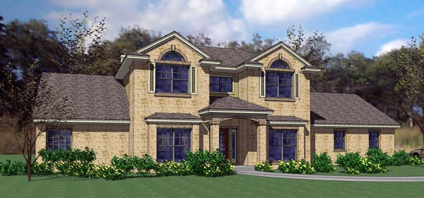 Coastal, Contemporary, Modern House Plan 75112 with 3 Beds, 3 Baths, 3 Car Garage Elevation