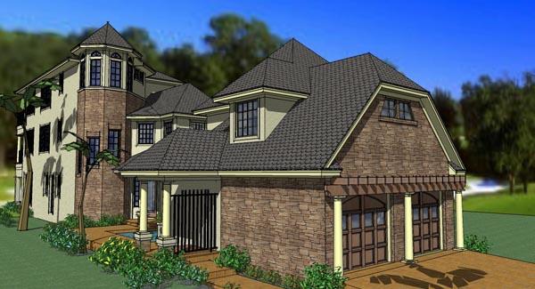 Coastal, Florida, Traditional House Plan 75126 with 6 Beds, 8 Baths, 2 Car Garage Elevation