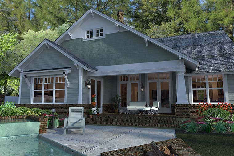 Bungalow, Cottage, Craftsman House Plan 75137 with 3 Beds, 2 Baths, 2 Car Garage Picture 5