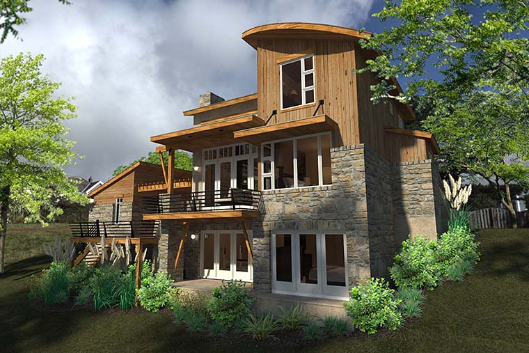 Contemporary, Cottage, Craftsman, Modern, Tuscan House Plan 75140 with 2 Beds, 2 Baths, 1 Car Garage Picture 4