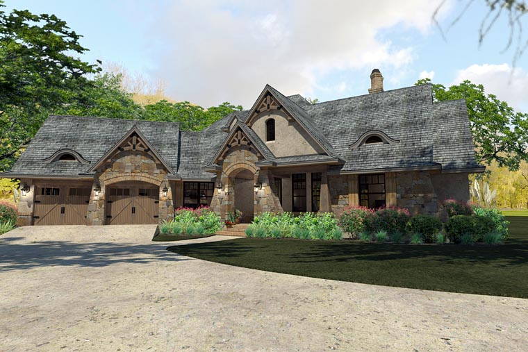 Craftsman, Traditional, Tuscan House Plan 75144 with 3 Beds, 3 Baths, 2 Car Garage Picture 1
