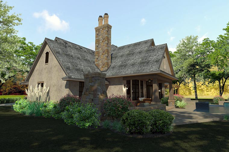 Craftsman, Traditional, Tuscan House Plan 75144 with 3 Beds, 3 Baths, 2 Car Garage Picture 4