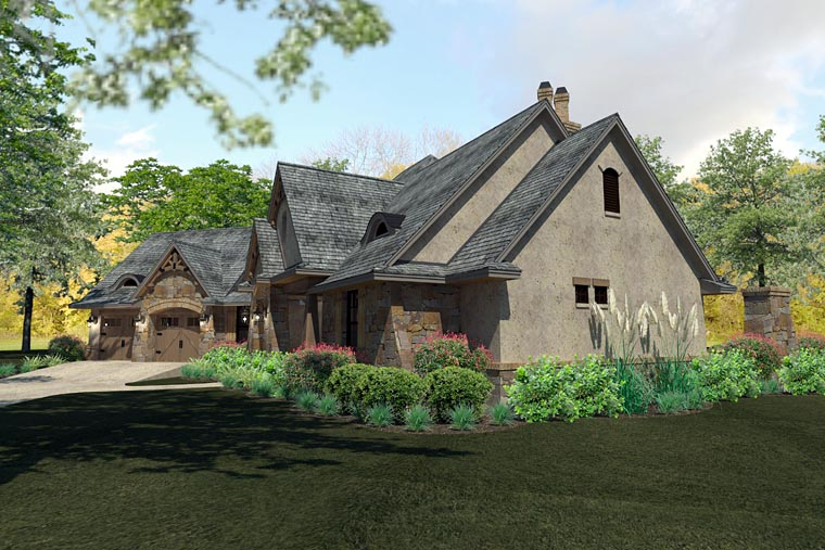 Craftsman, Traditional, Tuscan House Plan 75144 with 3 Beds, 3 Baths, 2 Car Garage Picture 6
