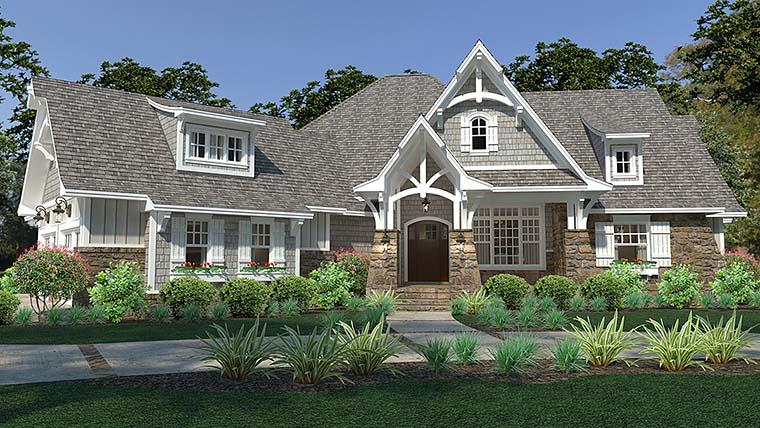 Cottage, Craftsman, European, Farmhouse House Plan 75149 with 3 Beds, 3 Baths, 3 Car Garage Front Elevation