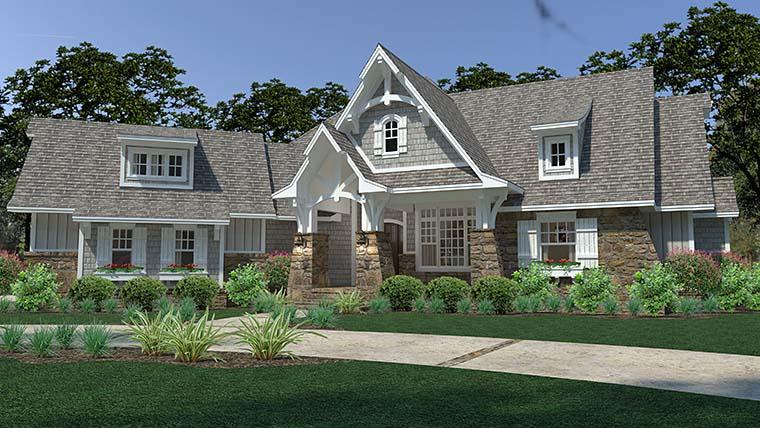 Cottage, Craftsman, European, Farmhouse House Plan 75149 with 3 Beds, 3 Baths, 3 Car Garage Picture 1