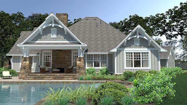 Cottage, Craftsman, European, Farmhouse House Plan 75149 with 3 Beds, 3 Baths, 3 Car Garage Picture 4
