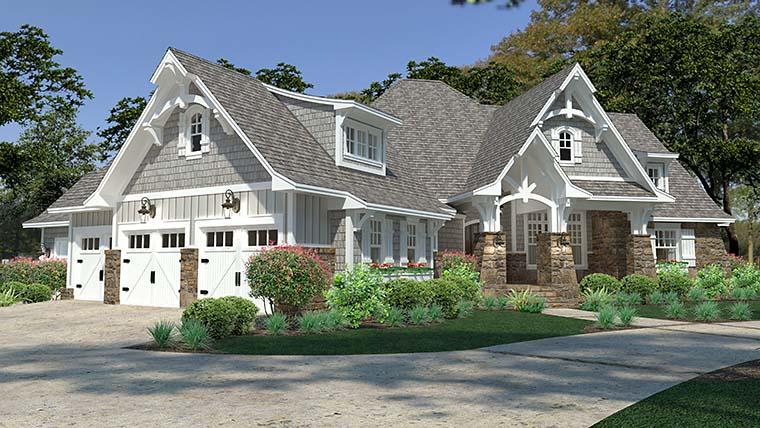 Cottage, Craftsman, European, Farmhouse House Plan 75149 with 3 Beds, 3 Baths, 3 Car Garage Picture 9