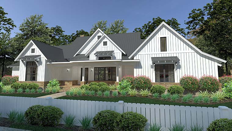 Cottage, Country, Farmhouse, Southern House Plan 75150 with 3 Beds, 3 Baths, 2 Car Garage Picture 2