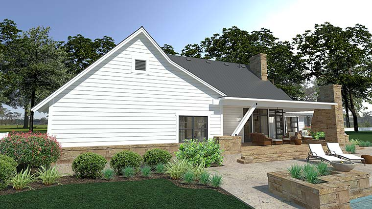 Cottage, Country, Farmhouse, Southern House Plan 75150 with 3 Beds, 3 Baths, 2 Car Garage Picture 4