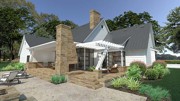 Cottage, Country, Farmhouse, Southern House Plan 75150 with 3 Beds, 3 Baths, 2 Car Garage Picture 5