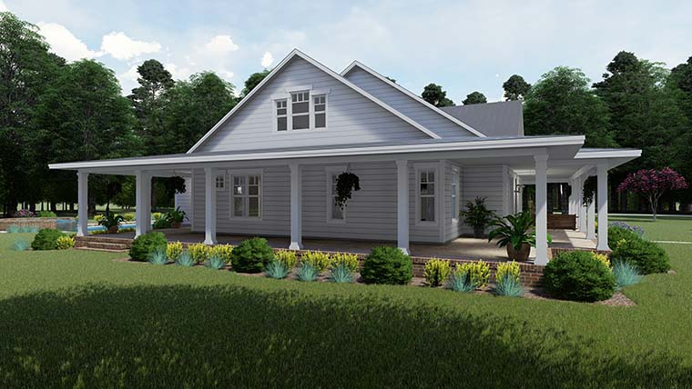 Country, Farmhouse, Southern House Plan 75151 with 3 Beds, 2 Baths, 3 Car Garage Picture 1