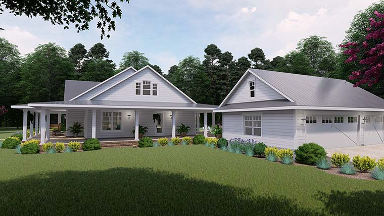 Country, Farmhouse, Southern House Plan 75151 with 3 Beds, 2 Baths, 3 Car Garage Picture 2