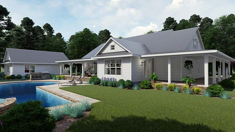 Country, Farmhouse, Southern House Plan 75151 with 3 Beds, 2 Baths, 3 Car Garage Picture 4