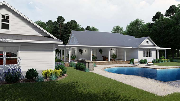 Country, Farmhouse, Southern House Plan 75151 with 3 Beds, 2 Baths, 3 Car Garage Picture 5