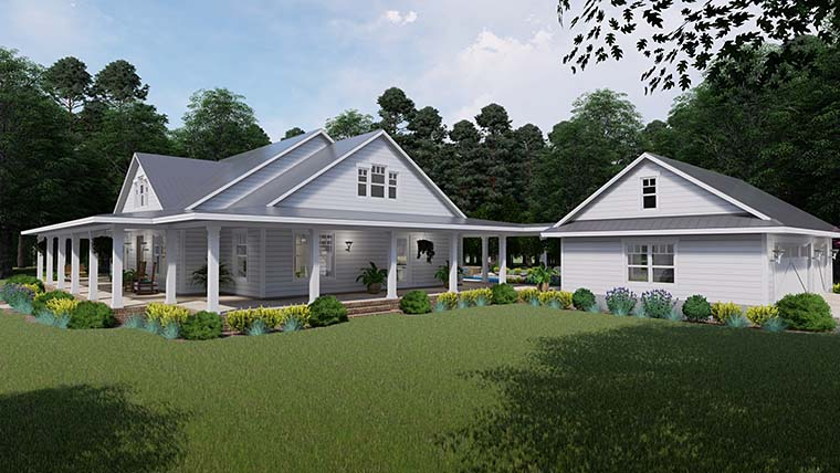 Country, Farmhouse, Southern House Plan 75151 with 3 Beds, 2 Baths, 3 Car Garage Picture 6