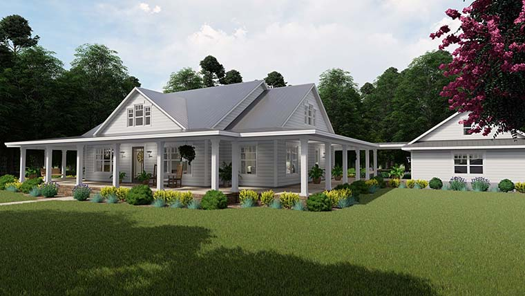 Country, Farmhouse, Southern House Plan 75151 with 3 Beds, 2 Baths, 3 Car Garage Picture 7