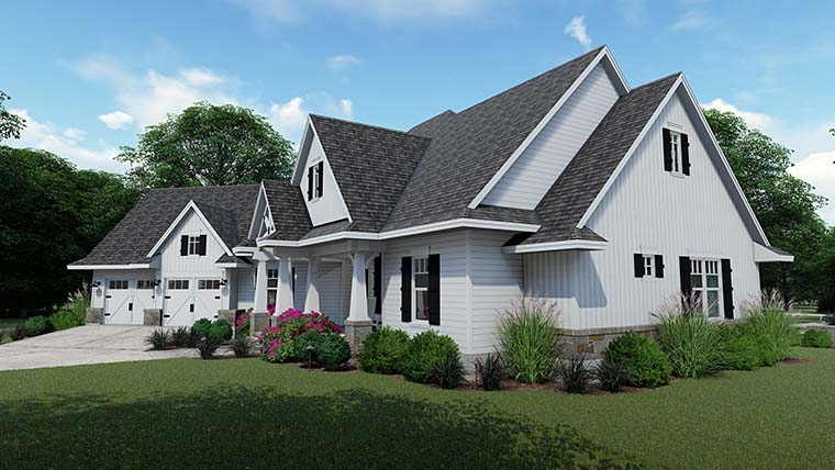 Cottage, Country, Farmhouse, Southern, Traditional House Plan 75152 with 3 Beds, 4 Baths, 2 Car Garage Picture 3