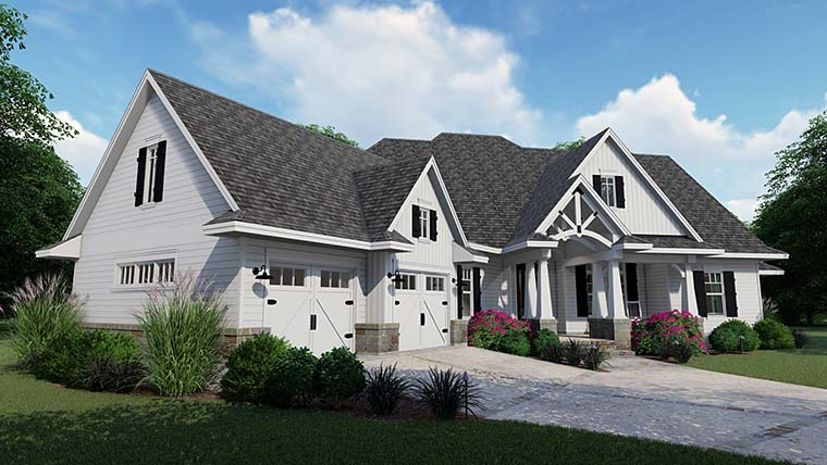 Cottage, Country, Farmhouse, Southern, Traditional House Plan 75152 with 3 Beds, 4 Baths, 2 Car Garage Picture 7