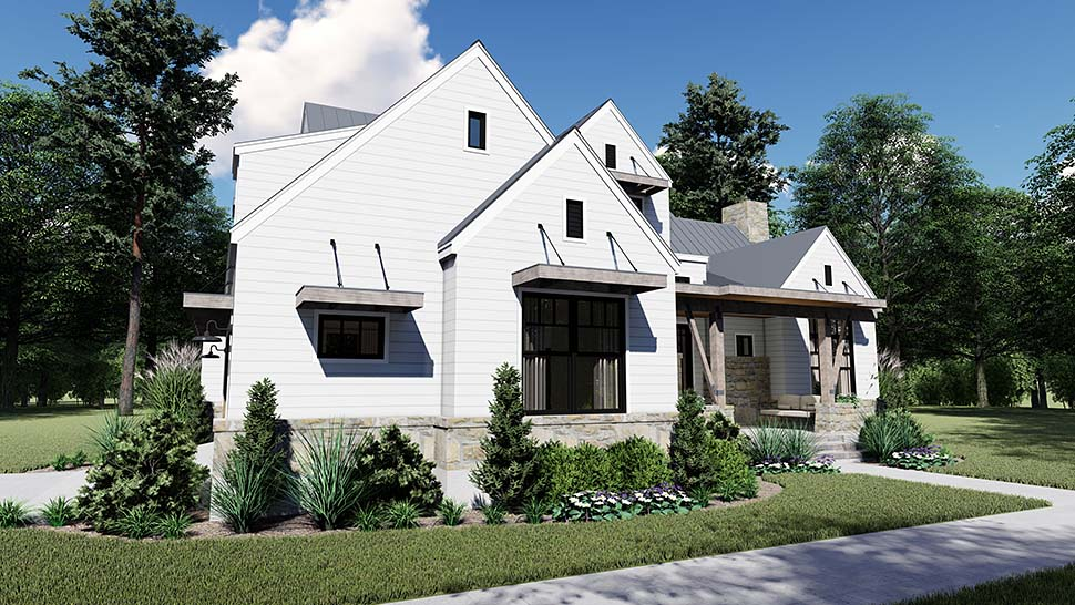 Cottage, Country, Farmhouse, Southern House Plan 75155 with 4 Beds, 4 Baths, 2 Car Garage Picture 4
