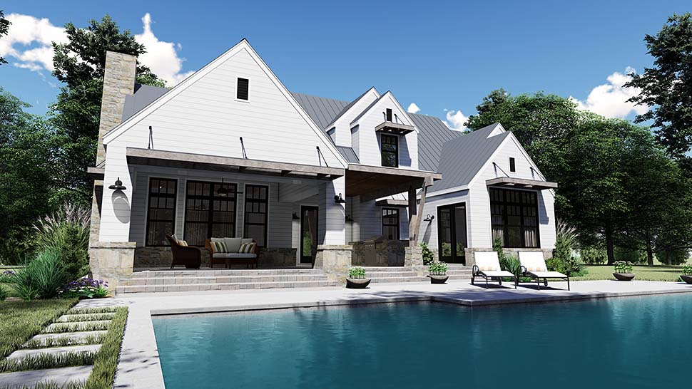 Cottage, Country, Farmhouse, Southern House Plan 75155 with 4 Beds, 4 Baths, 2 Car Garage Picture 9