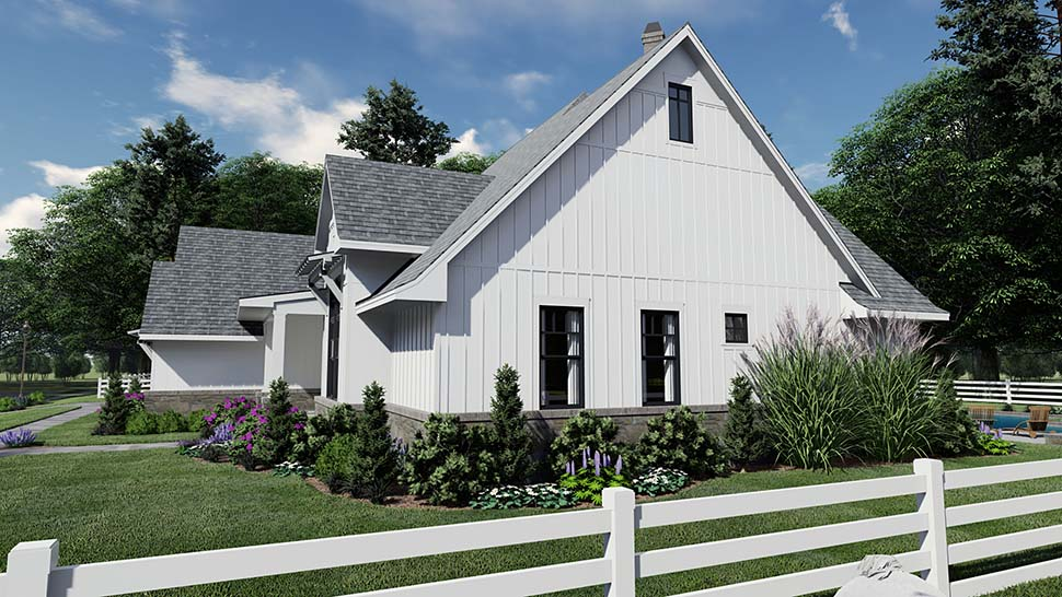 Country, Farmhouse, Southern House Plan 75156 with 4 Beds, 4 Baths, 2 Car Garage Picture 3