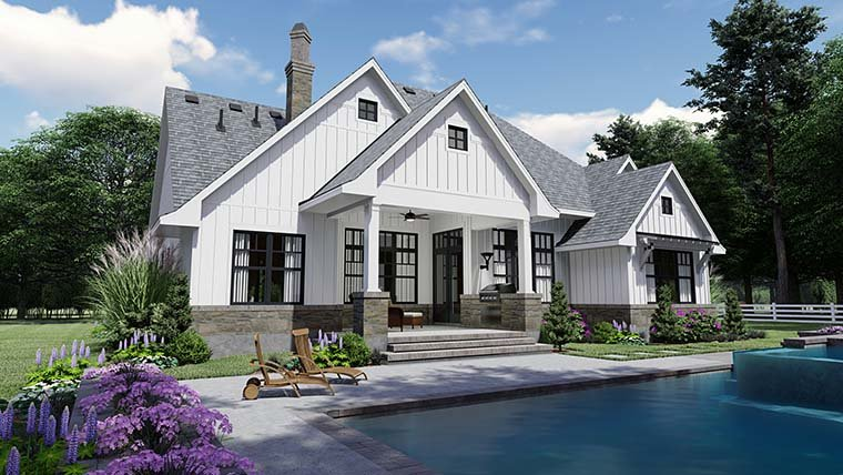 Country, Farmhouse, Southern House Plan 75156 with 4 Beds, 4 Baths, 2 Car Garage Picture 5
