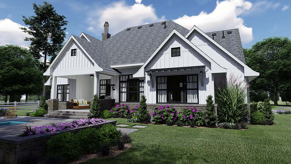 Country, Farmhouse, Southern House Plan 75156 with 4 Beds, 4 Baths, 2 Car Garage Picture 6