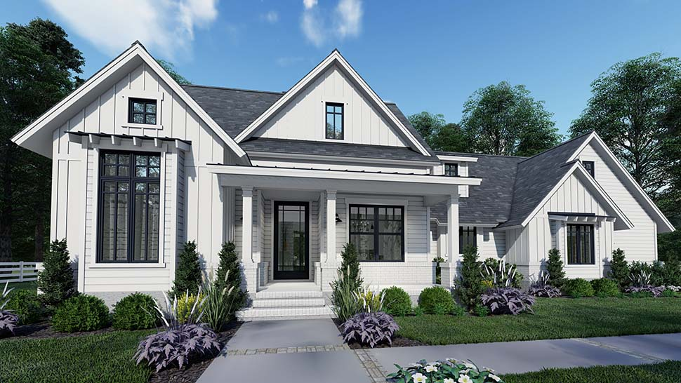 Country, Craftsman, Farmhouse, Southern House Plan 75159 with 3 Beds, 2 Baths, 2 Car Garage Picture 2