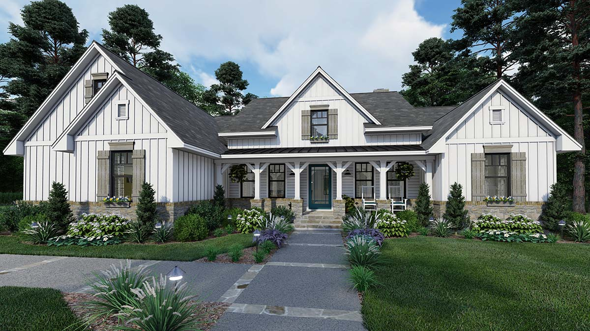 House Plan 75160 - Southern Style with 2459 Sq Ft, 4 Bed, 3 Bath |  COOLhouseplans.com