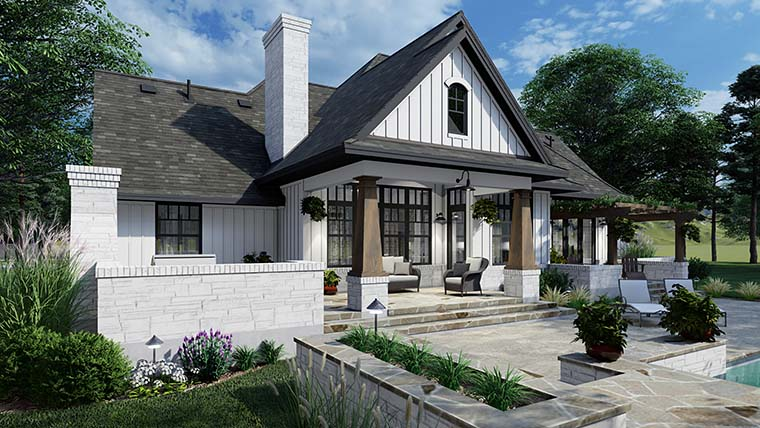 European, Farmhouse, Traditional House Plan 75161 with 4 Beds, 3 Baths, 2 Car Garage Picture 5