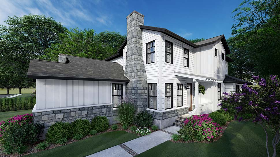 Cottage, Farmhouse Multi-Family Plan 75162 with 6 Beds, 6 Baths, 4 Car Garage Picture 2