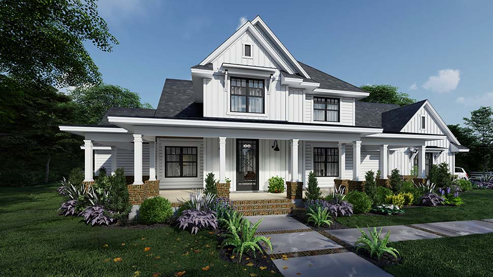Country, Farmhouse House Plan 75164 with 4 Beds, 4 Baths, 3 Car Garage Picture 1