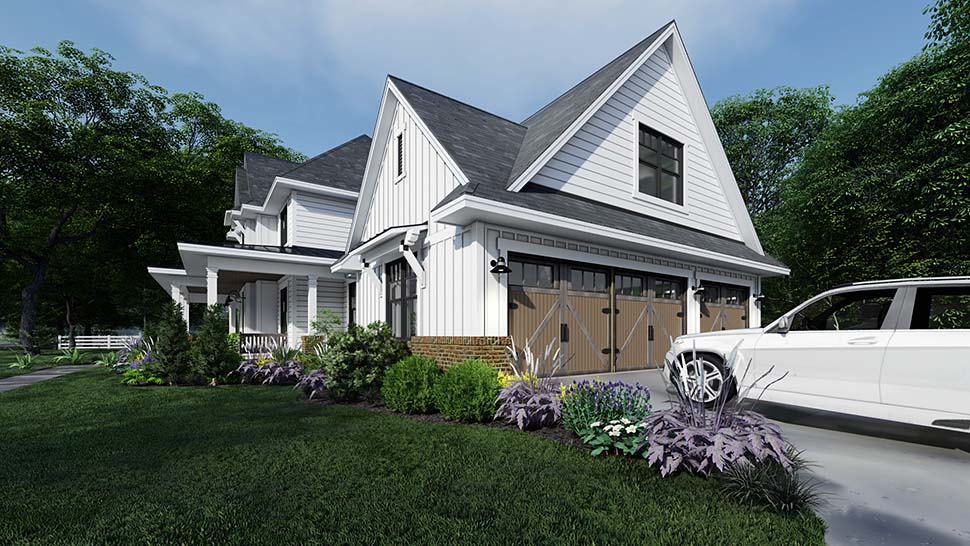 Country, Farmhouse House Plan 75164 with 4 Beds, 4 Baths, 3 Car Garage Picture 3