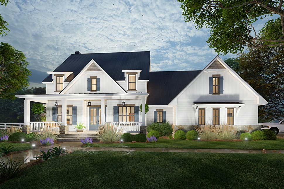 Colonial, Cottage, Farmhouse House Plan 75169 with 3 Beds, 3 Baths, 2 Car Garage Picture 11