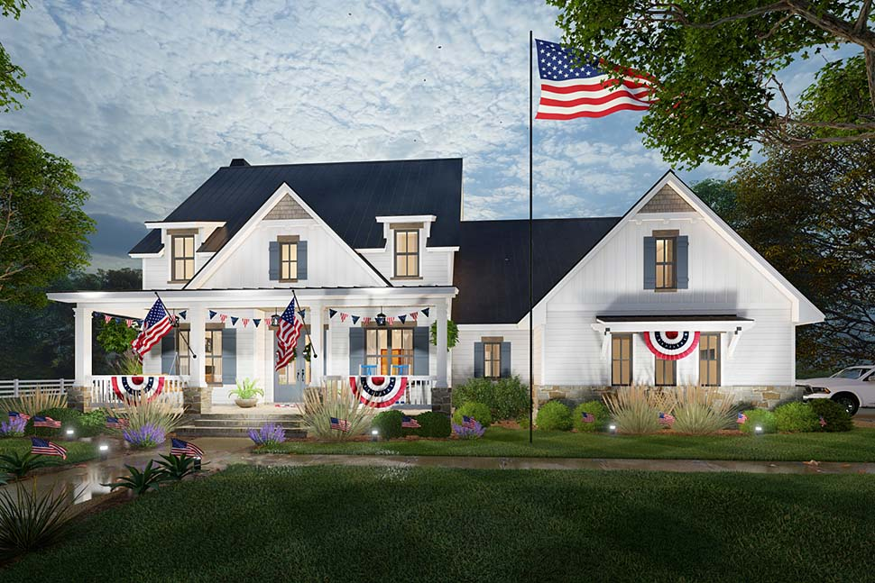 Colonial, Cottage, Farmhouse House Plan 75169 with 3 Beds, 3 Baths, 2 Car Garage Picture 4