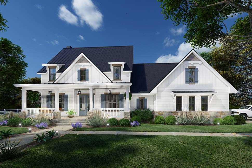 Colonial, Cottage, Farmhouse House Plan 75169 with 3 Beds, 3 Baths, 2 Car Garage Picture 7