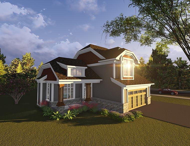 Bungalow, Cottage, Craftsman House Plan 75230 with 3 Beds, 2 Baths, 3 Car Garage Elevation