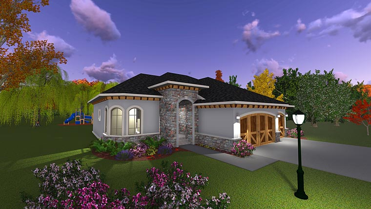 Craftsman, European, Italian House Plan 75234 with 3 Beds, 2 Baths, 3 Car Garage Picture 7