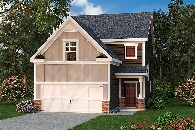 Traditional House Plan 75319 with 4 Beds, 3 Baths, 2 Car Garage Elevation