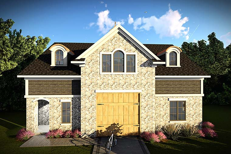 European 2 Car Garage Plan 75422 Elevation