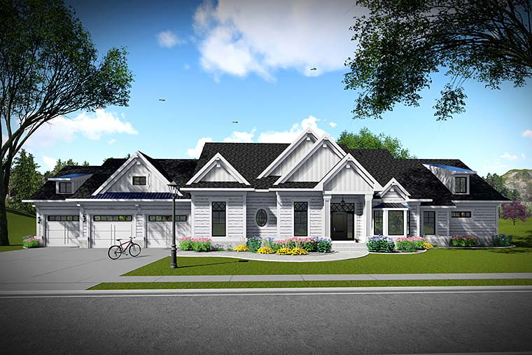 Country, Traditional House Plan 75438 with 3 Beds, 2 Baths, 3 Car Garage Picture 1