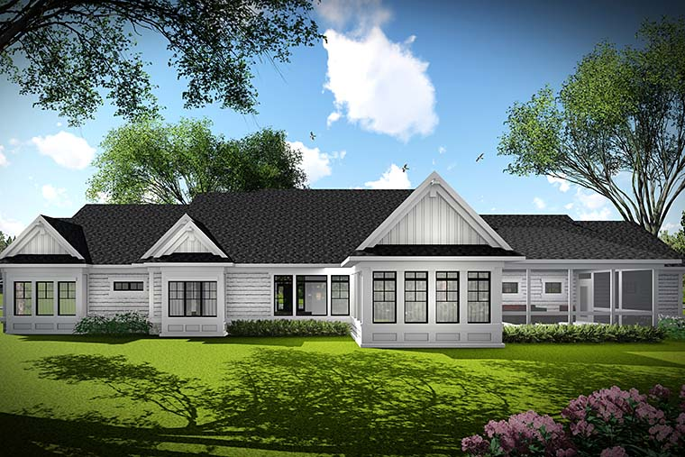 Country, Traditional House Plan 75438 with 3 Beds, 2 Baths, 3 Car Garage Picture 2