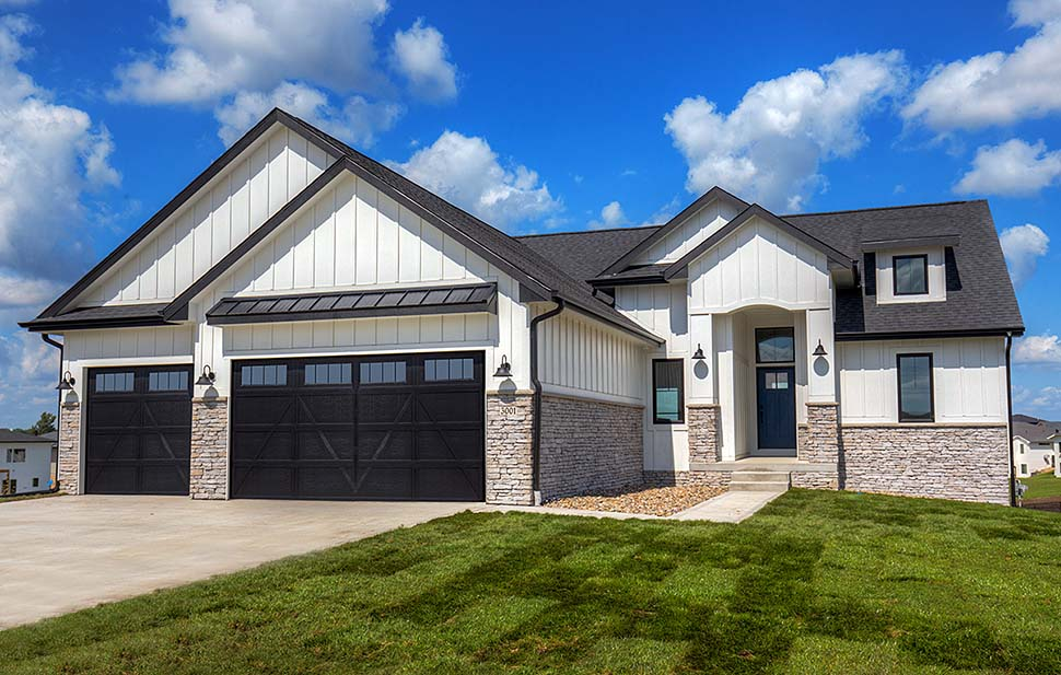 Craftsman, Ranch, Traditional House Plan 75454 with 3 Beds, 2 Baths, 3 Car Garage Elevation