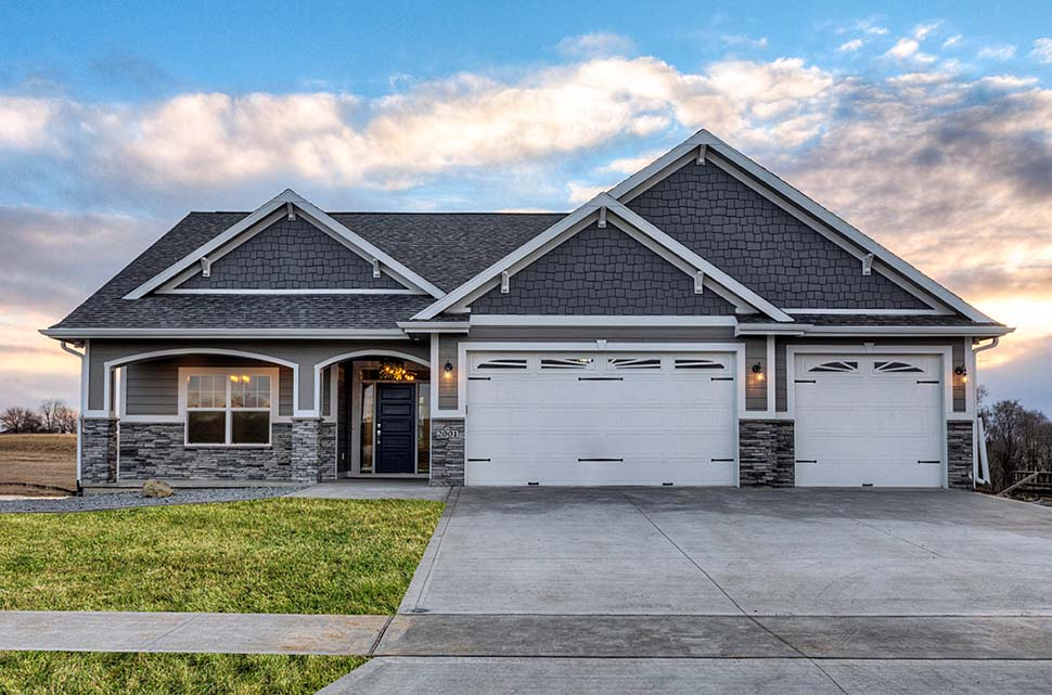 Craftsman, Traditional House Plan 75458 with 3 Beds, 2 Baths, 3 Car Garage Front Elevation