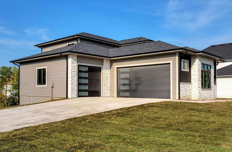 Contemporary, Modern House Plan 75464 with 3 Beds, 3 Baths, 3 Car Garage Picture 3