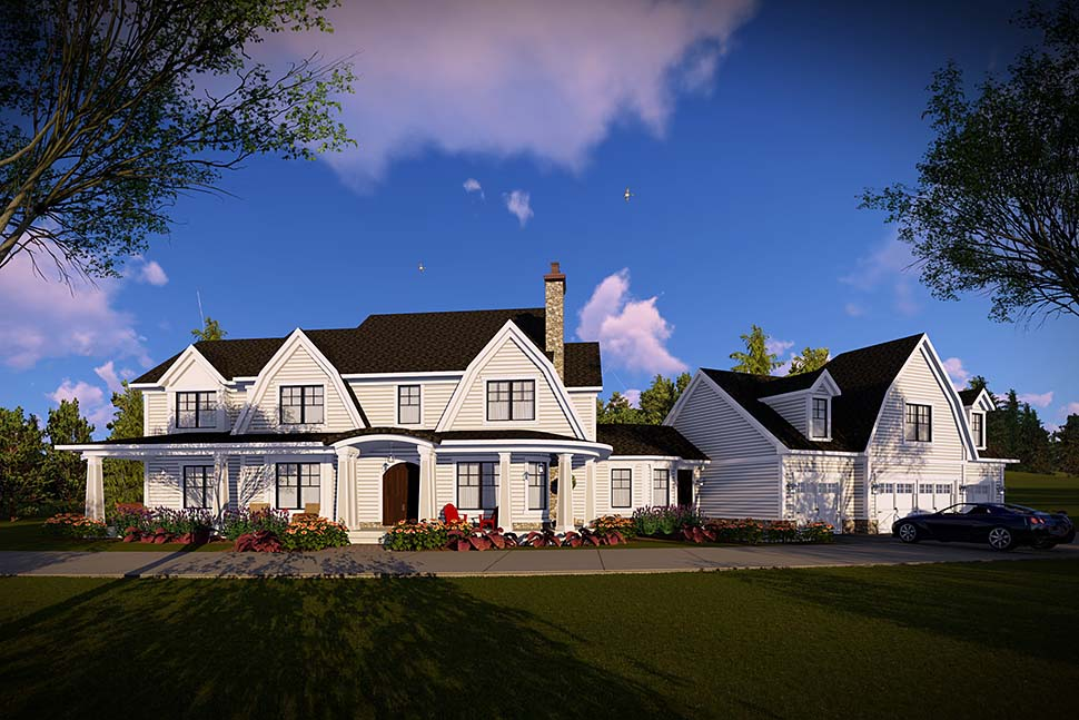 Country, Farmhouse, Southern House Plan 75466 with 5 Beds, 6 Baths, 4 Car Garage Picture 1