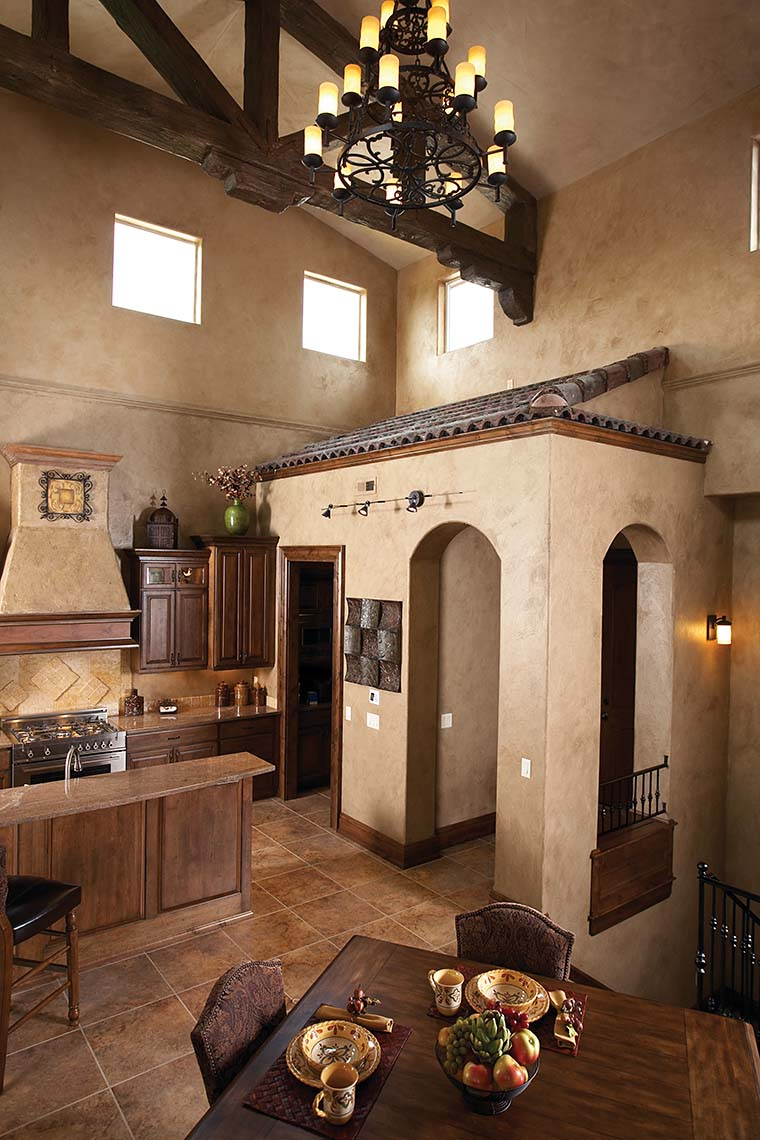 Southwest, Tuscan House Plan 75471 with 4 Beds, 3 Baths, 3 Car Garage Picture 5